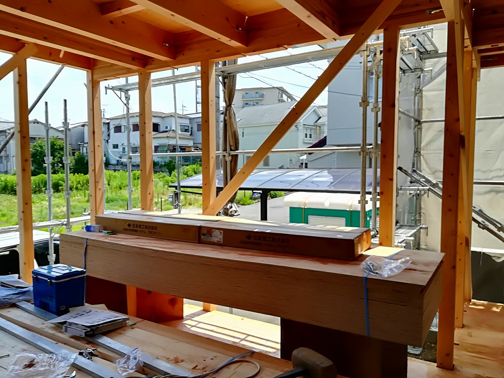 枚方市藤阪東町の家の大工工事