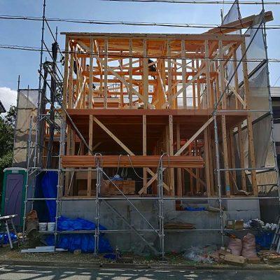枚方市藤阪東町二丁目の家の上棟