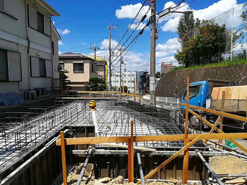 枚方市藤阪東町4丁目の家の基礎工事