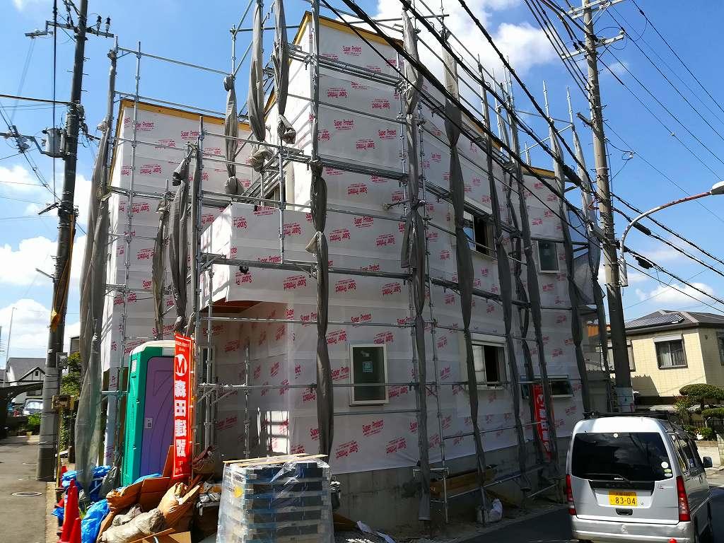 枚方市藤阪東町の家の外壁