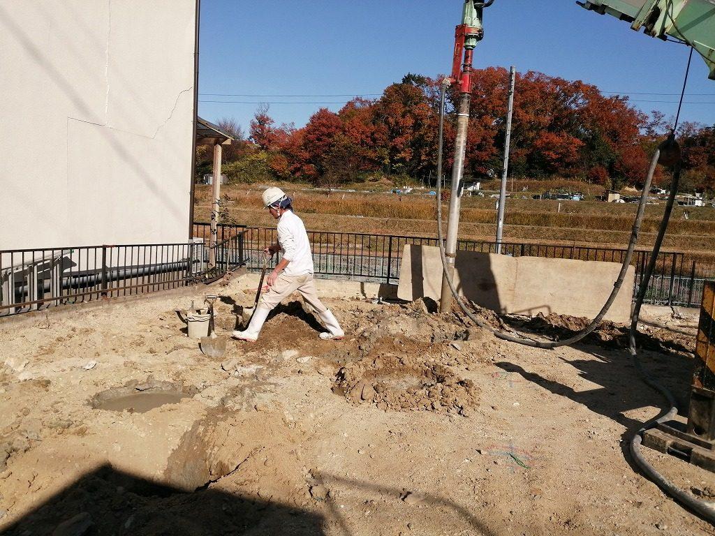 枚方市長尾台四丁目の家の地盤工事