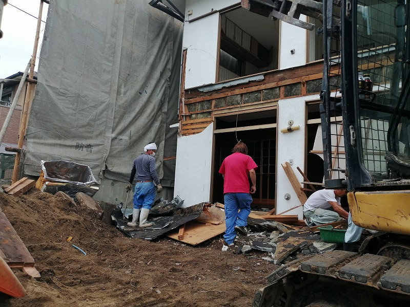 川西市の建物解体工事