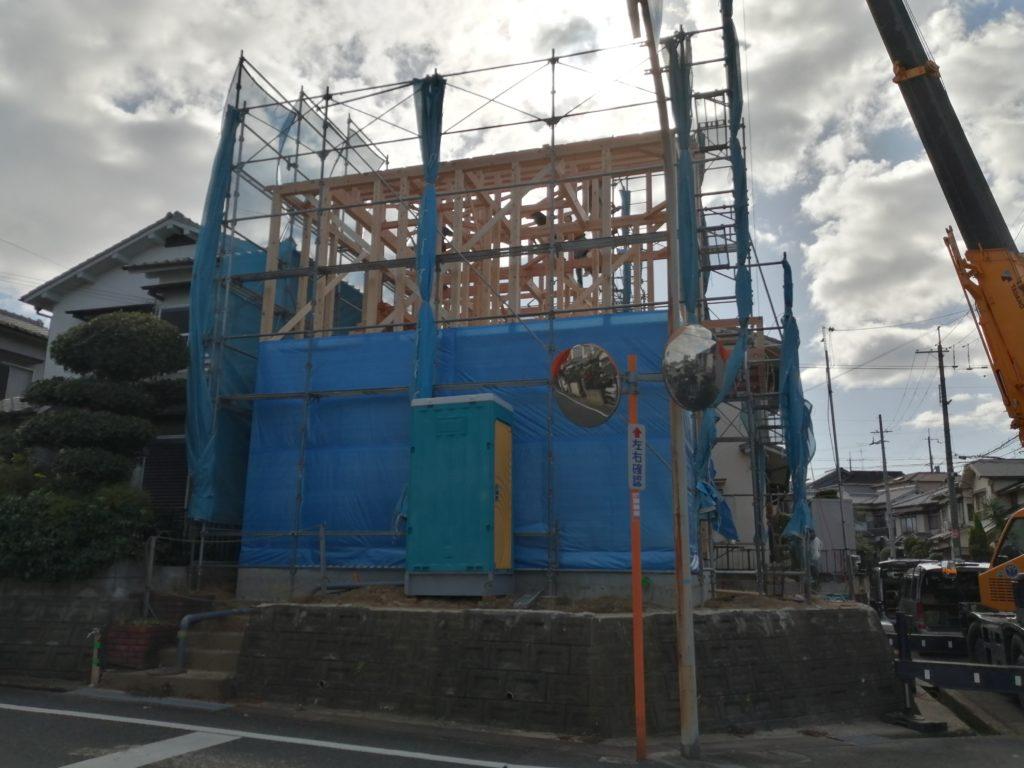 枚方市藤阪元町三丁目の家の上棟