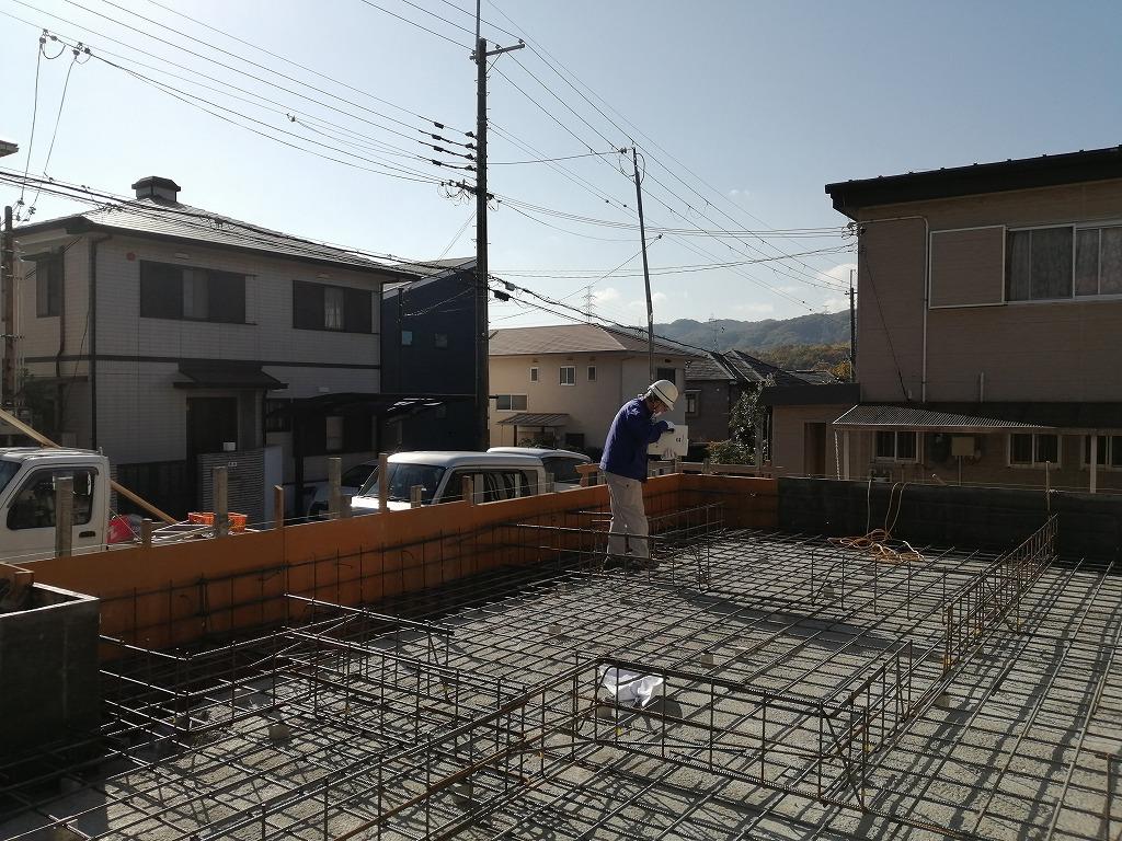 枚方市杉山手の家の基礎工事検査