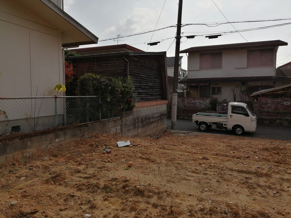 川西市の注文住宅現場