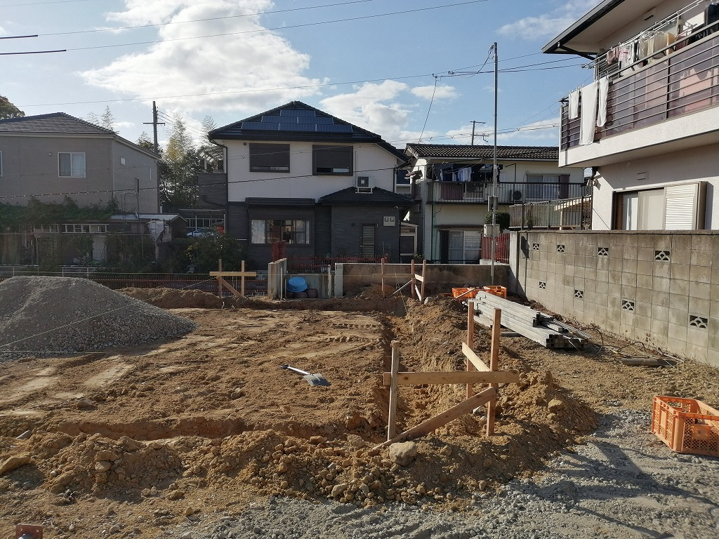 枚方市長尾台三丁目の家の基礎工事