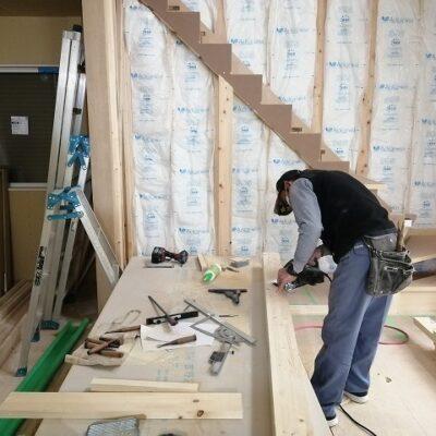 リビング階段工事