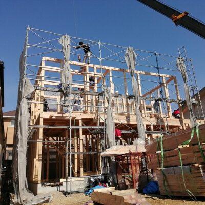 川西向陽台の家 構造見学会